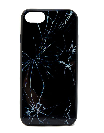 Broken glass print smartphone case