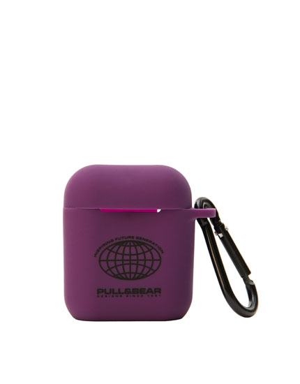 Purple silicon airpods case