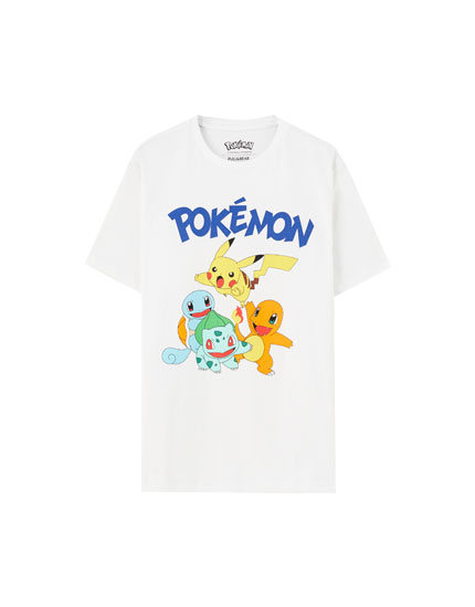 White Pokemon T-shirt