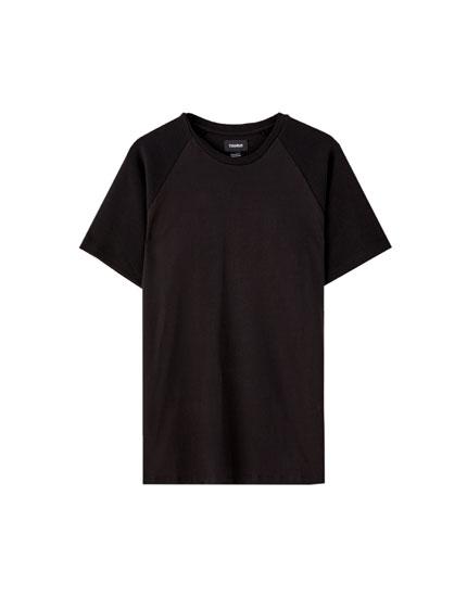 Basic ottoman sleeve T-shirt
