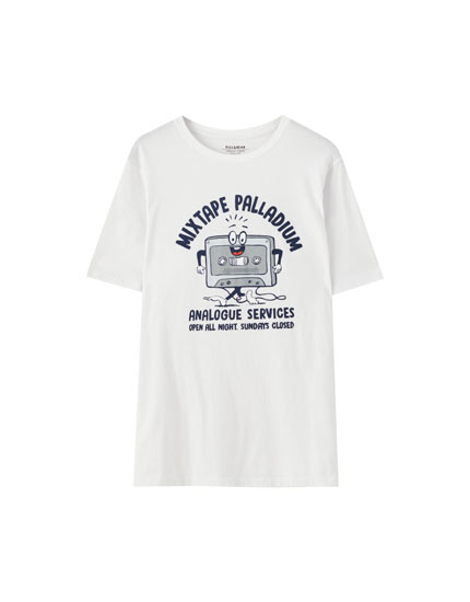 "White ""Mixtape Palladium"" T-shirt"