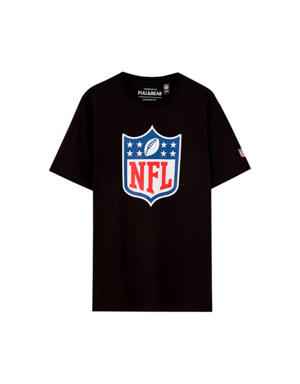 Black NFL illustration T-shirt