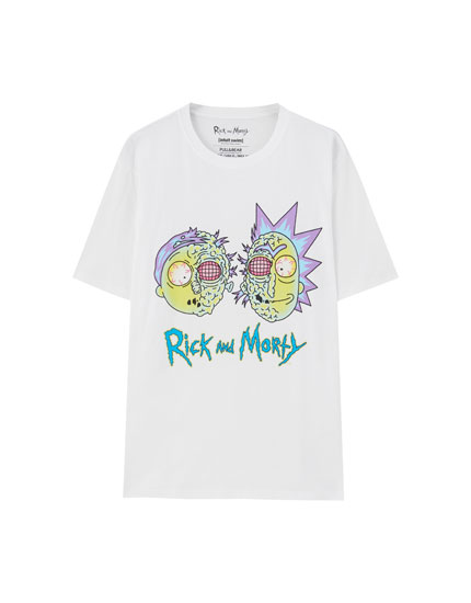 Playera Rick & Morty blanca