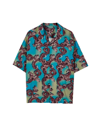 Dragon print shirt