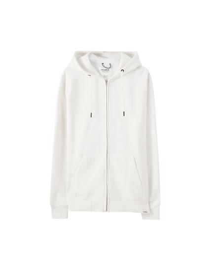 Basic embroidered logo hoodie
