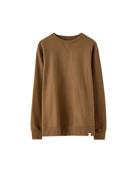 Coloured round neck sweatshirt