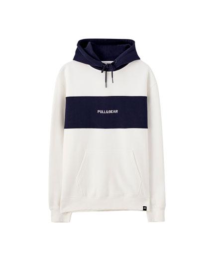 READ Adidas Men/'s Word Logo Hoodie Royal Blue//White L