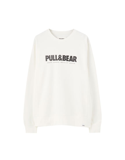 Basic-Sweatshirt mit farbigem Logo