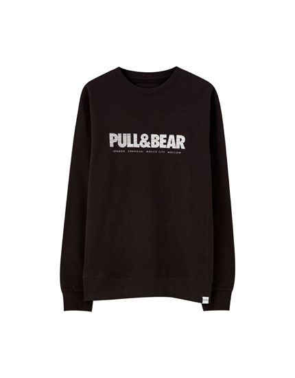 Basic coloured sweatshirt with logo