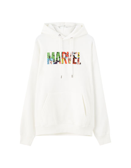 White Marvel sweatshirt