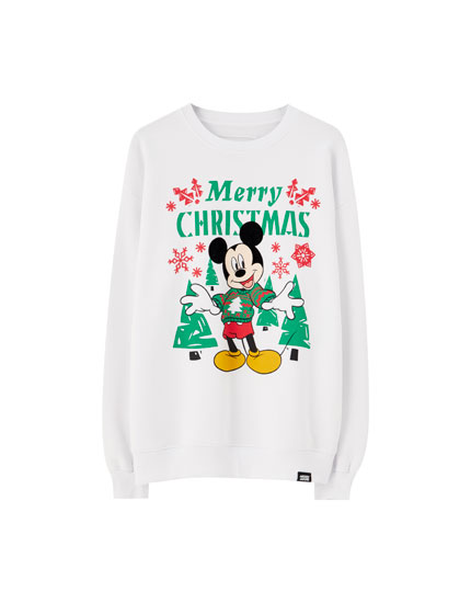 White Mickey Mouse sweatshirt