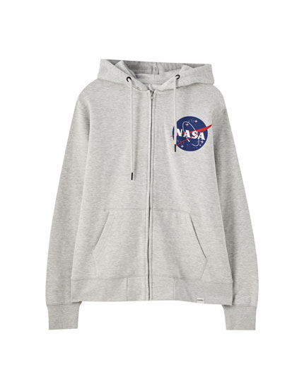 Zipped jacket with a NASA illustration