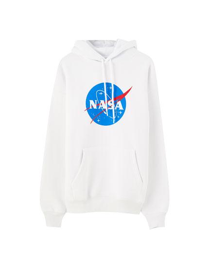 White NASA hoodie