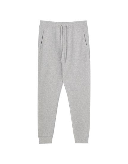 Textured piqué joggers