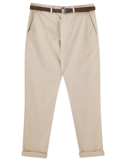 Smart skinny fit chino trousers