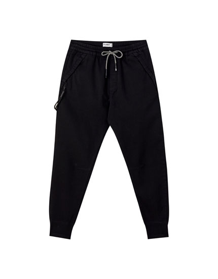 Strandbroek in joggingstijl