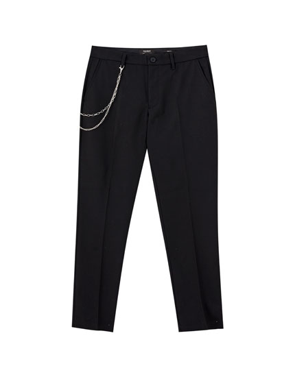 Tailored darted chino trousers