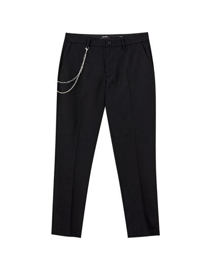 Παντελόνι τσίνο tailoring με πιέτες
