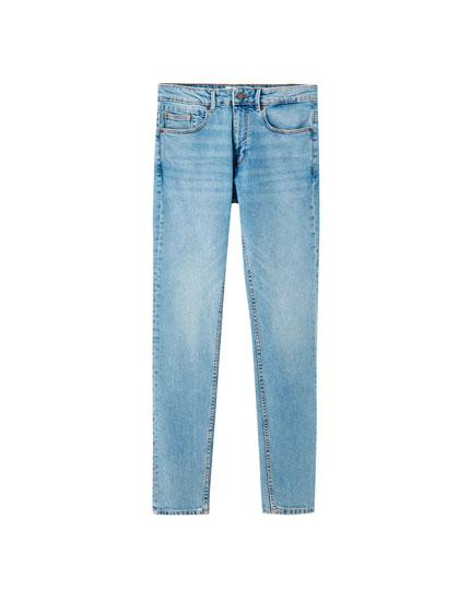 Medium blue slim comfort fit jeans