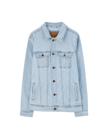 Basic coloured denim jacket