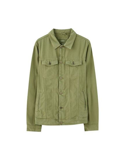 Basic khaki denim jacket