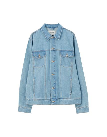 Blue denim trucker jacket