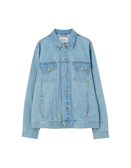 Veste en jean bleue regular fit