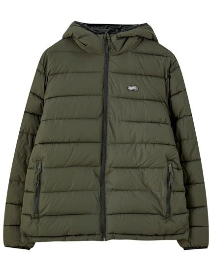 PULL AND BEAR Winter Mantel Jacke Parka Damen Gr S Khaki Top