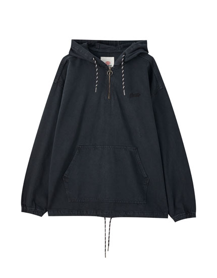 Denim anorak jacket