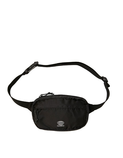 Basic black belt bag with logo