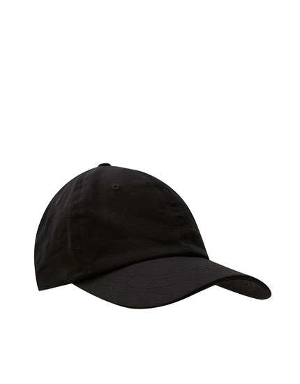 Basic curved peak cap