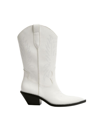 Bottes cowboy blanches
