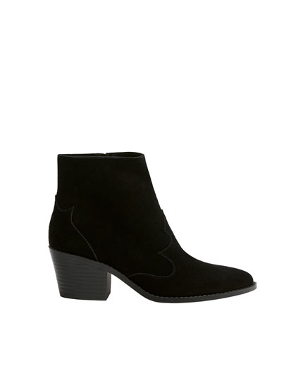 Bottines en cuir cowboy