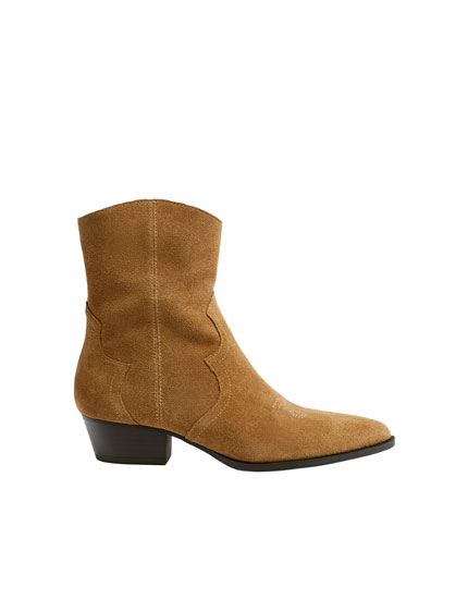 Bottines cowboy cuir
