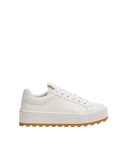 White track sole trainers