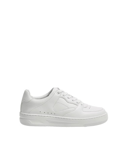 All white trainers
