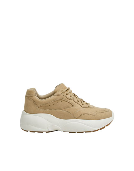 Sand-coloured trainers