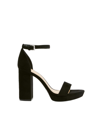 Black high-heel sandals