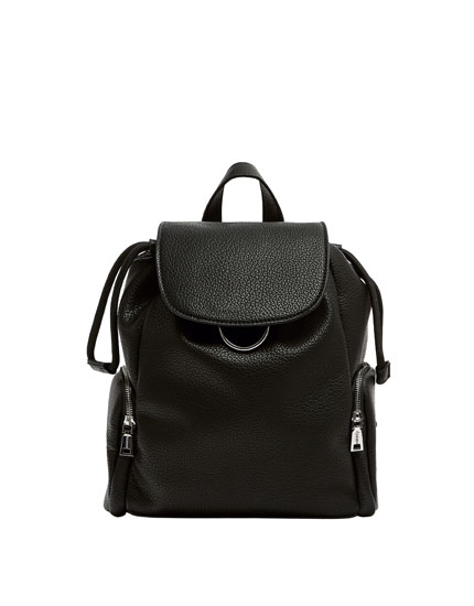 Black urban backpack