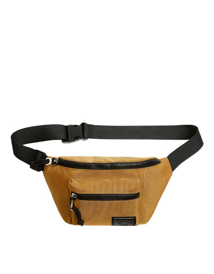 Mustard yellow contrast belt bag