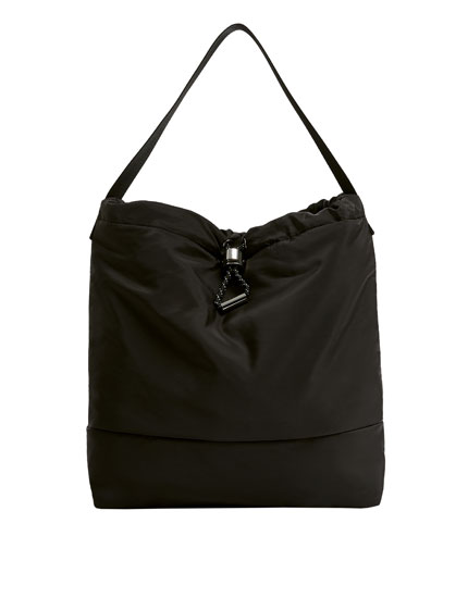 Shopper negro nailon