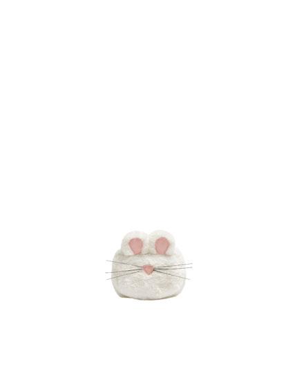 Monedero ratón blanco