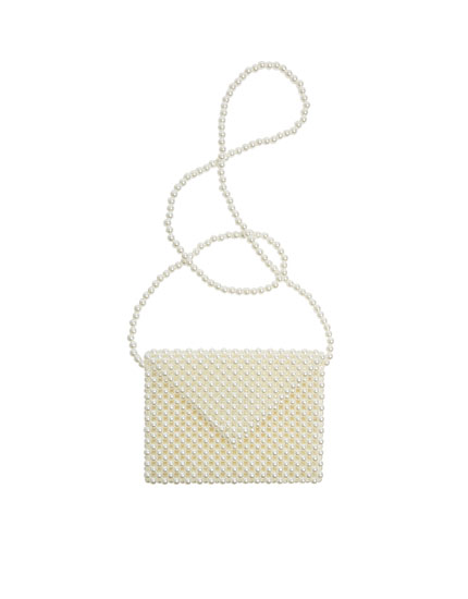 Embellished beaded crossbody bag