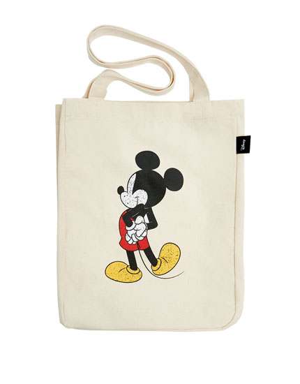 "White ""Mickey Mouse"" tote bag"