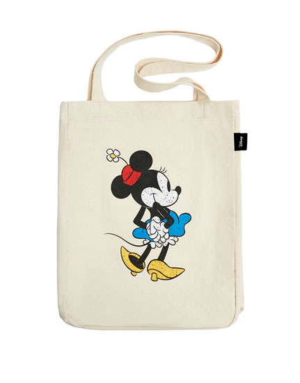 Sac cabas motif « Minnie Mouse » blanc