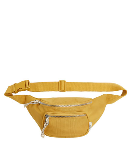 Yellow belt bag with pocket