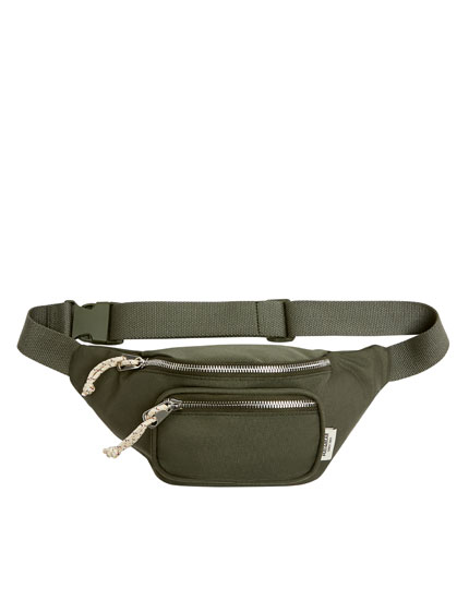 Green belt bag with pocket