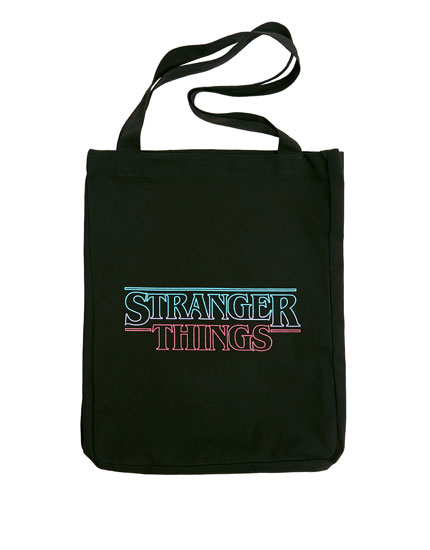 Sac cabas « Stranger Things » noir