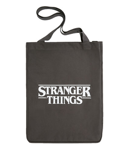 "Grey ""Stranger Things"" tote bag"