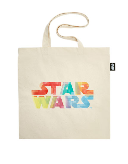 "White ""Star Wars"" tote bag"